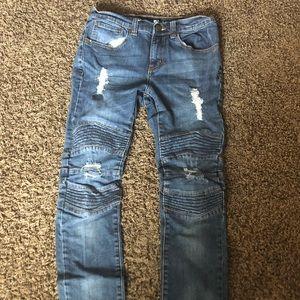 Moto Light Aged Destructed Jeans